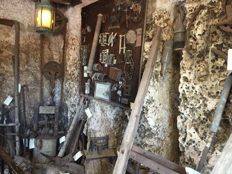 Masonry tools on the wall