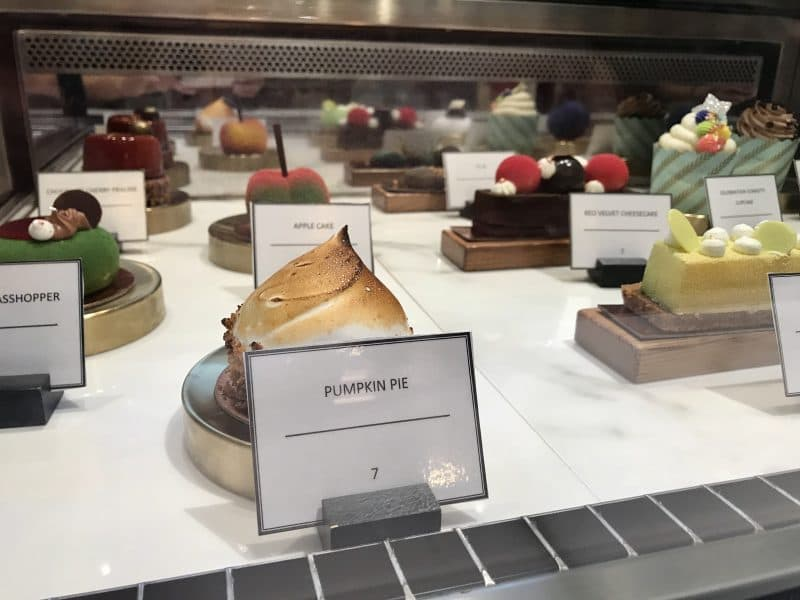 Fancy desserts on display