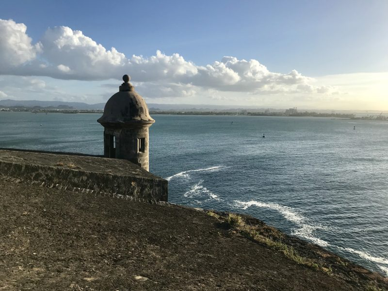 Castle in San Juan overlooking the ocean
