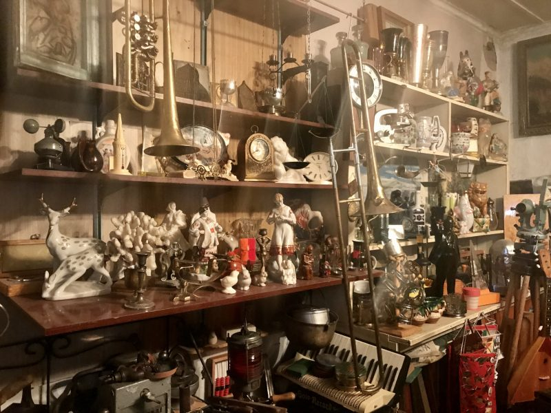 Antiques on the shelf