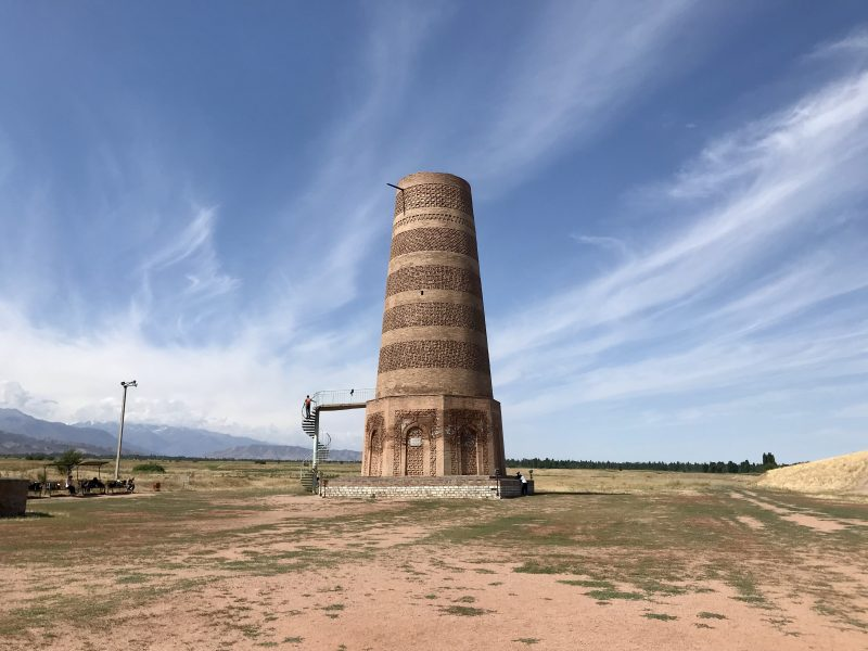 Tower built of bricks