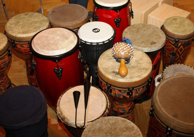 drums on display