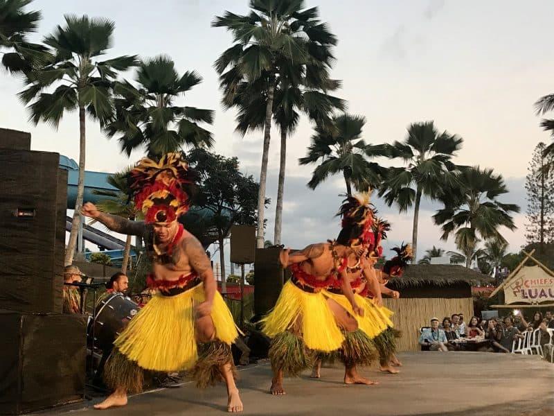 Male dancers at the luau