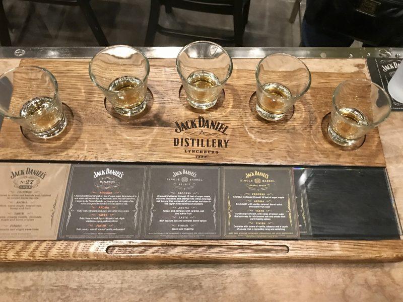 Jack Daniels tasting glasses