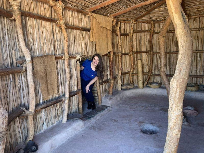 Inside a traditional Native American home