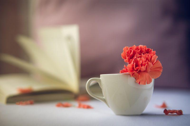 coffee cup with flower