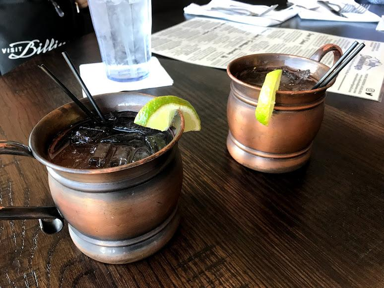 Moscow mules on a bar