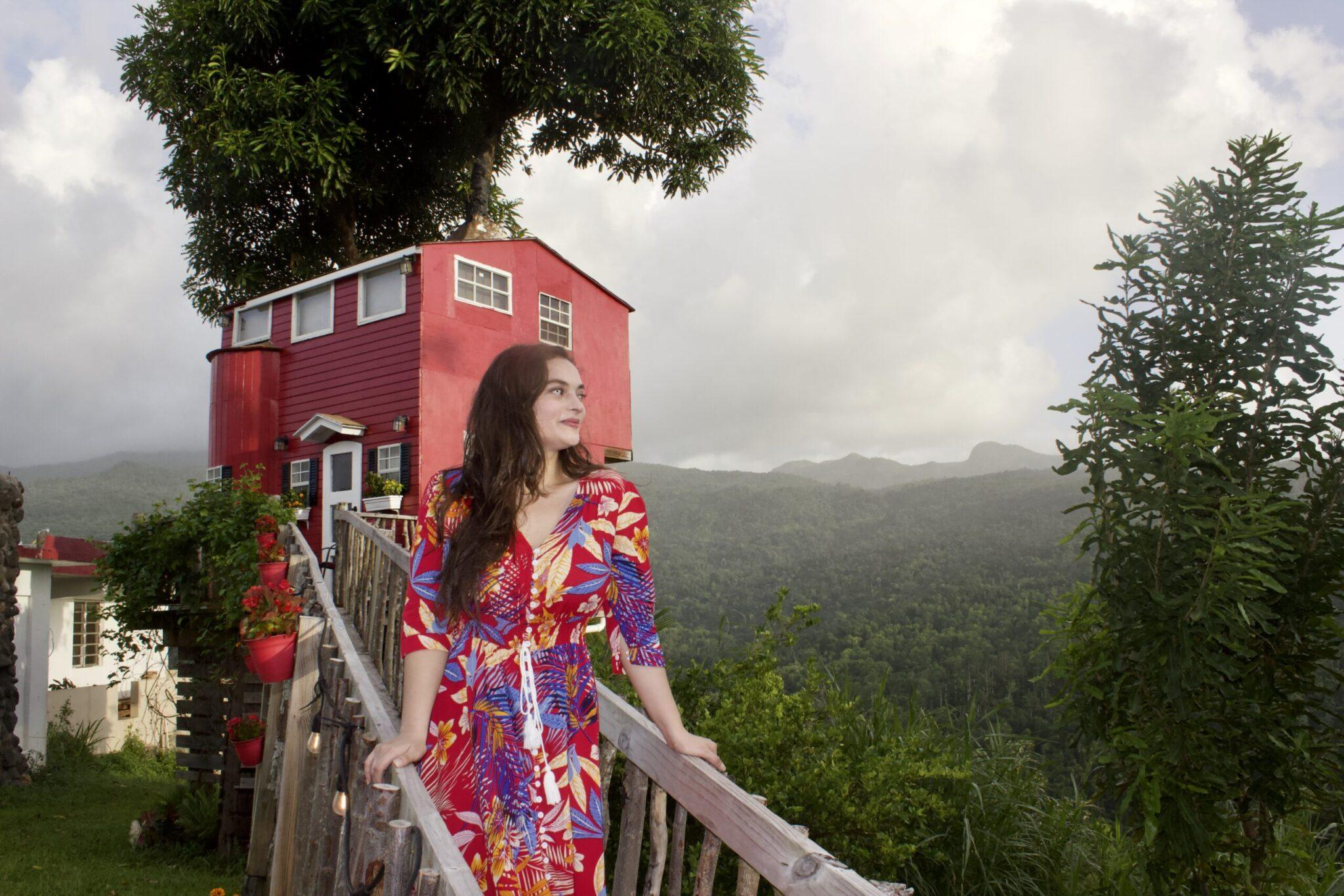 standing in front of El Yunque View treehouse