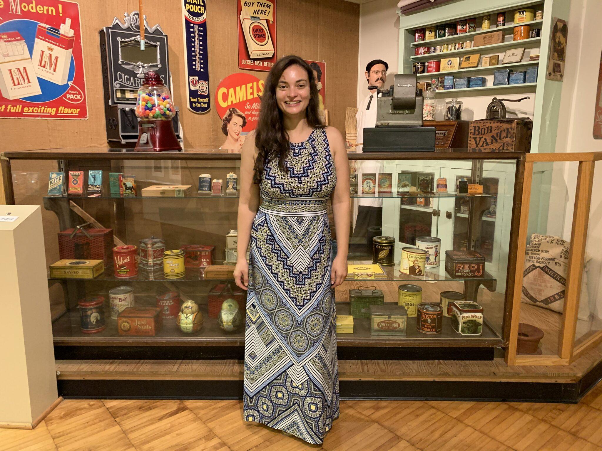 Tobacco museum display