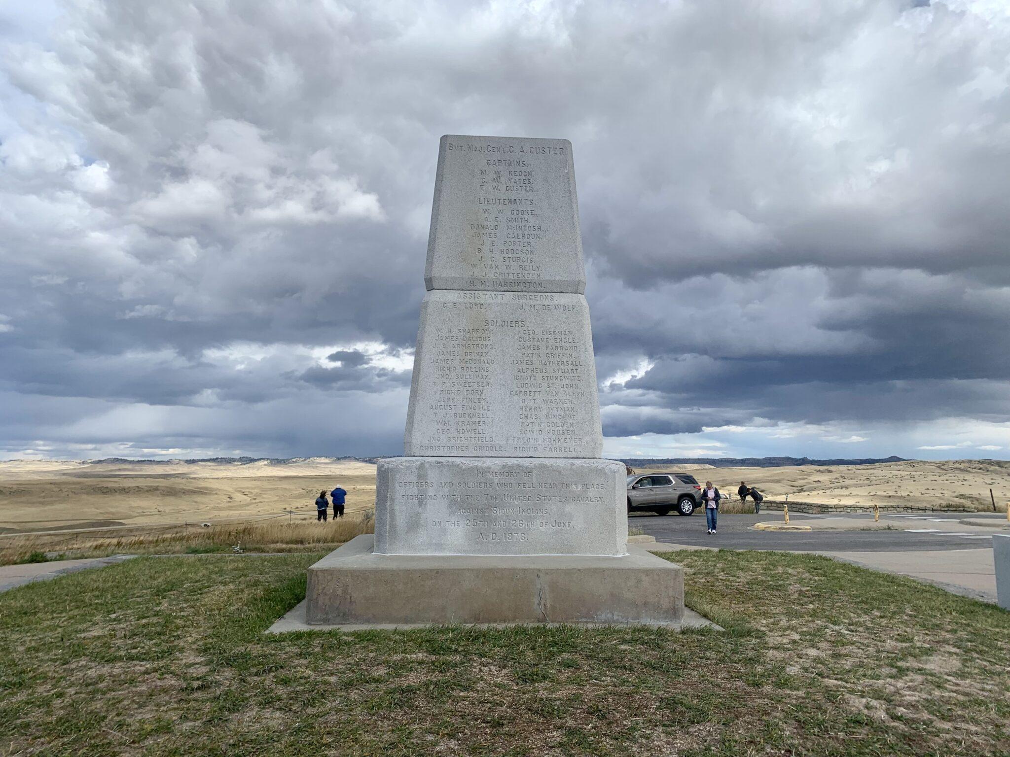 Memorial statue at Little Bighorn