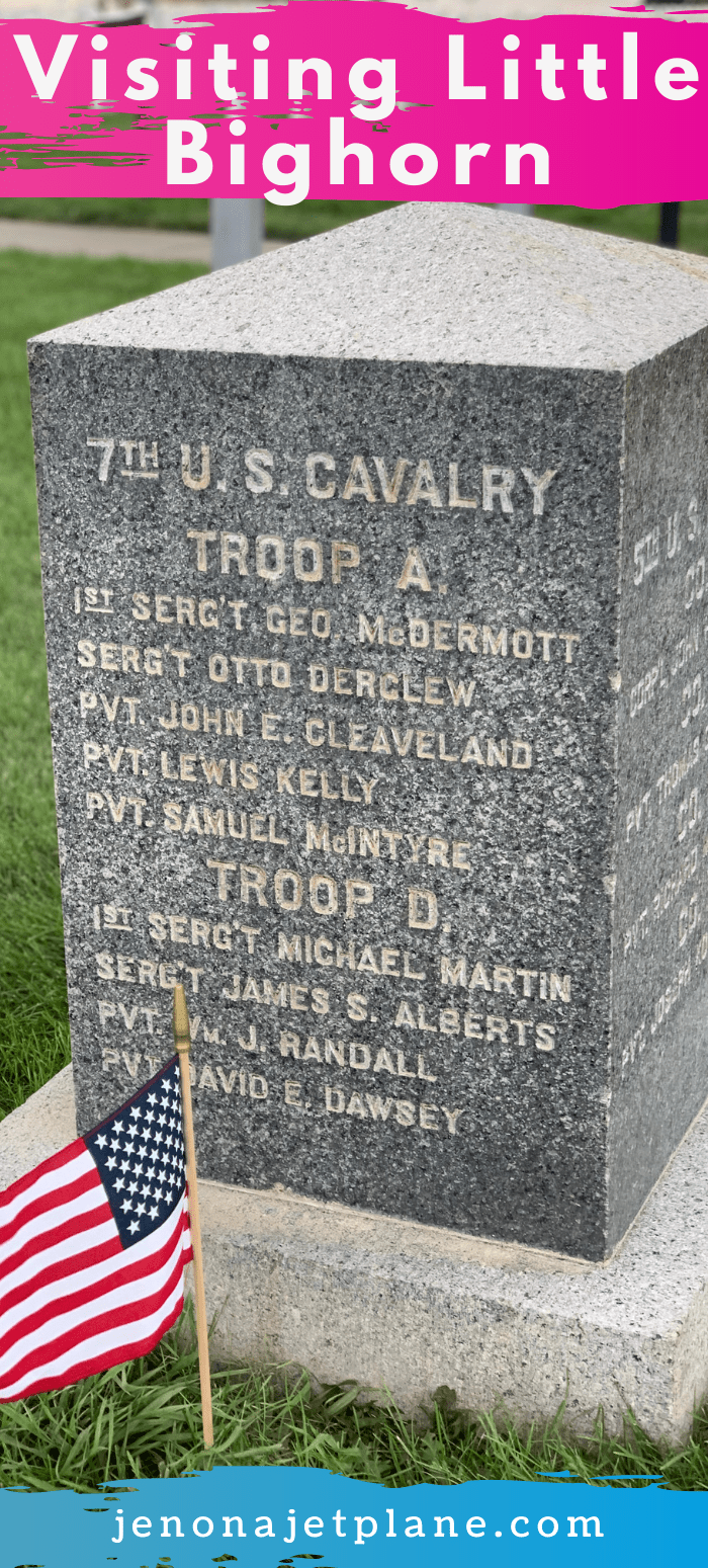 Grave stone at Little Bighorn