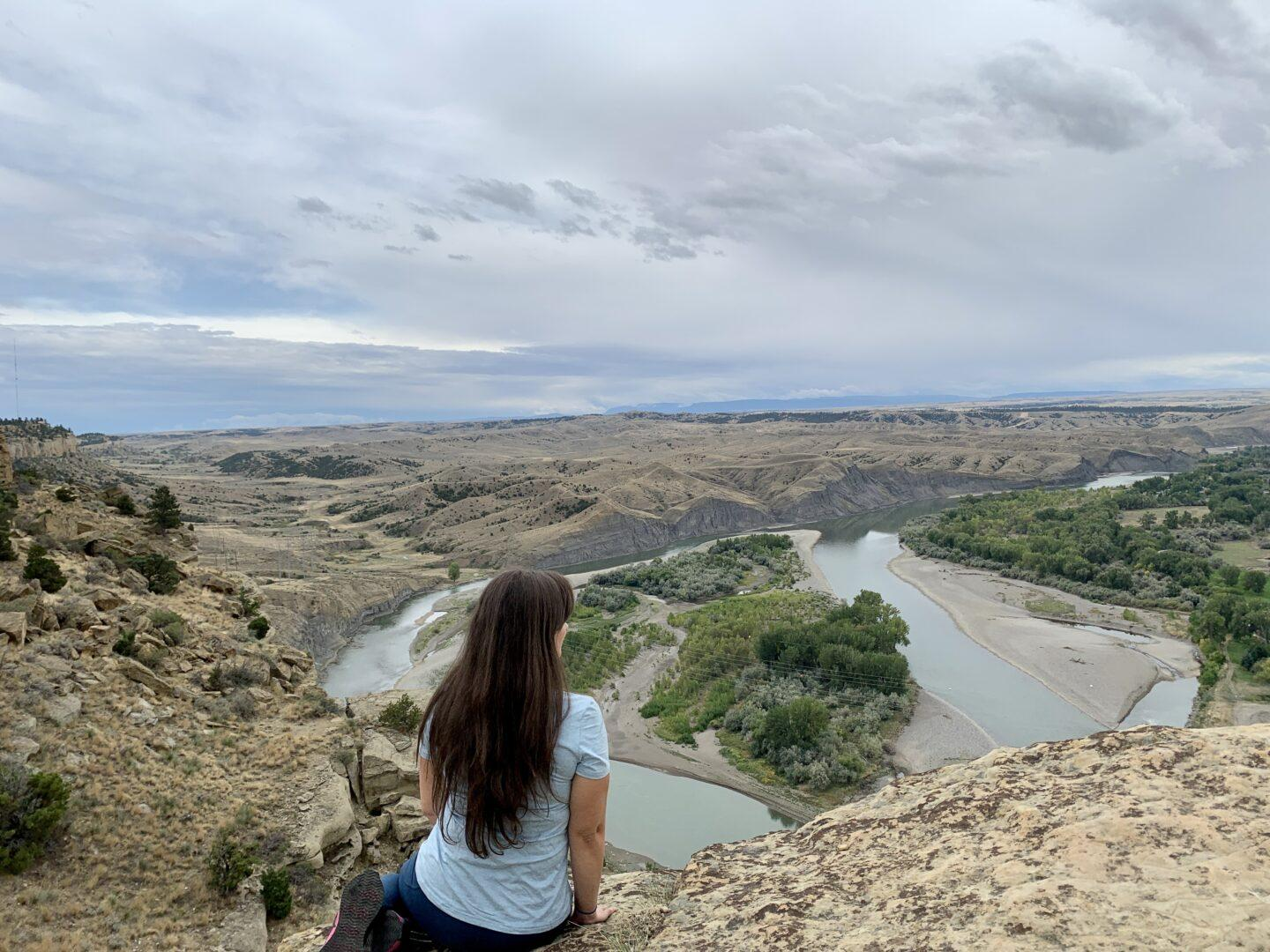 On a hike overlooking the Yellowstone River