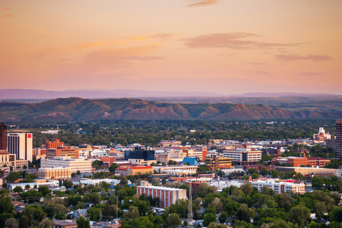 View of Billings from above